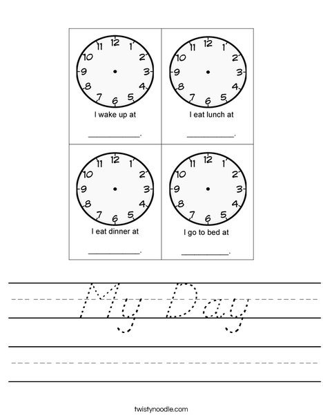 My Day Worksheet