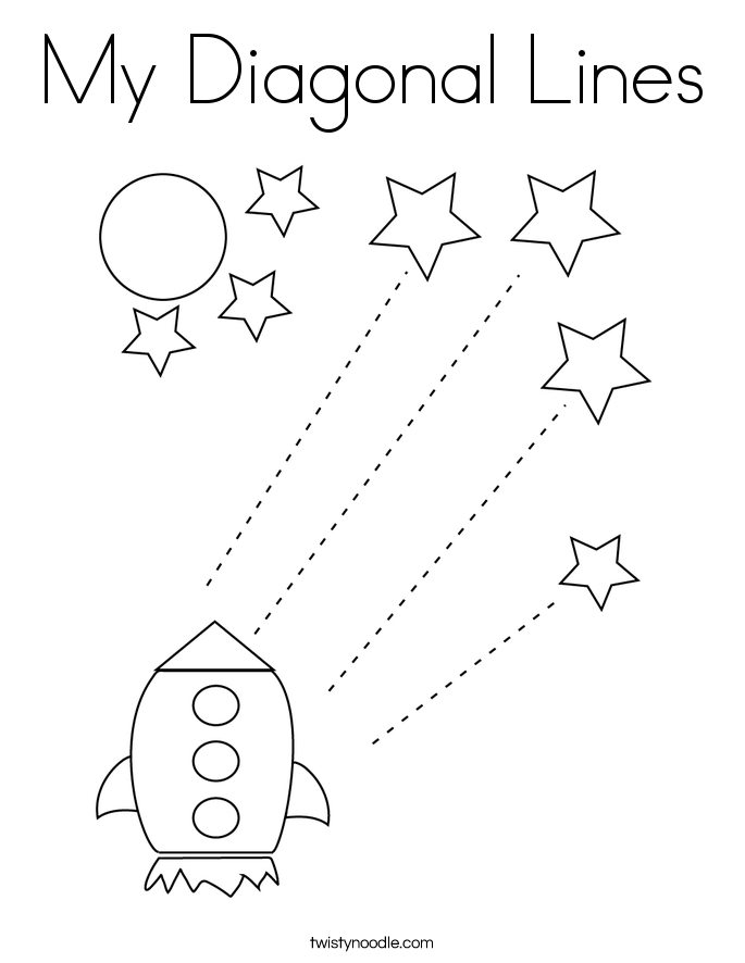My Diagonal Lines Coloring Page
