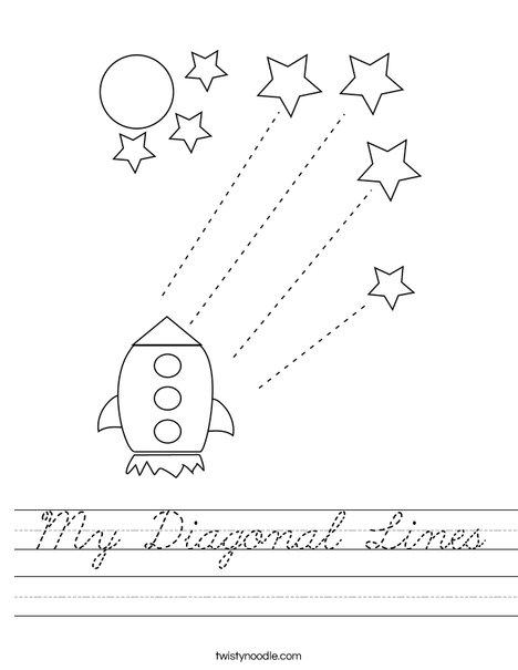 My Diagonal Lines Worksheet