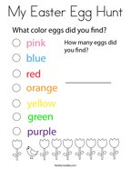 My Easter Egg Hunt Coloring Page