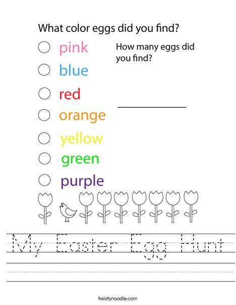 My Easter Egg Hunt Worksheet