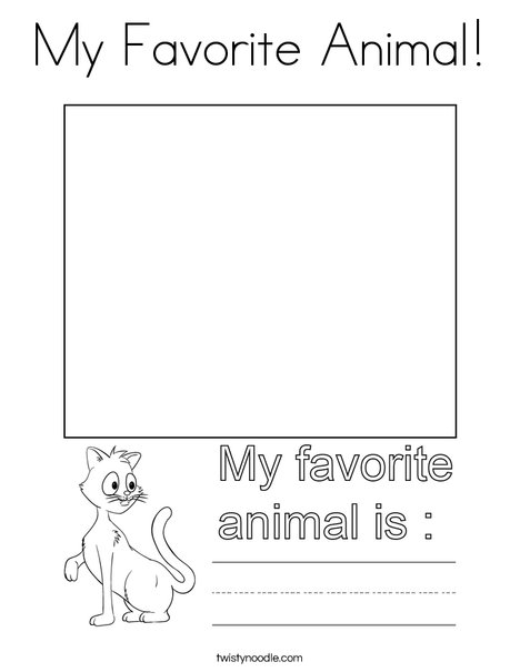 My Favorite Animal! Coloring Page