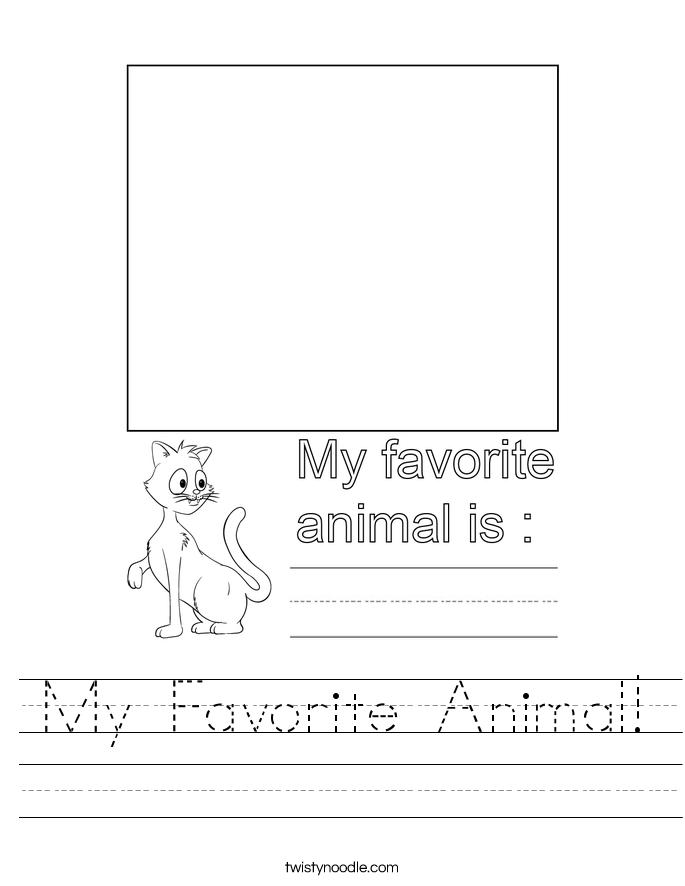 My Favorite Animal! Worksheet