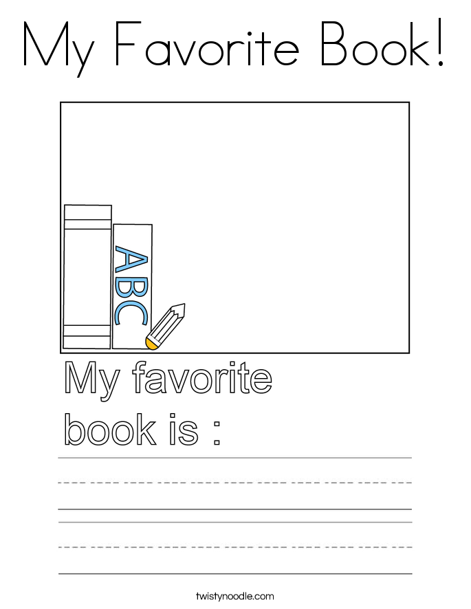 My Favorite Book! Coloring Page