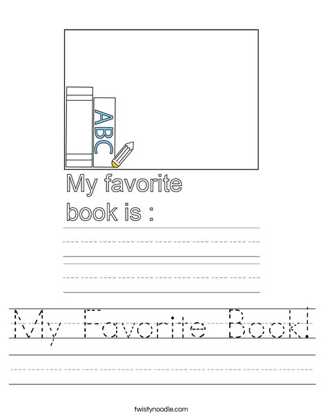 My Favorite Book! Worksheet
