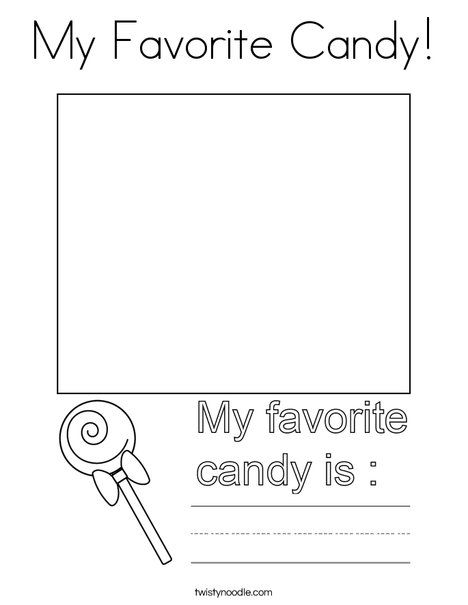My Favorite Candy! Coloring Page