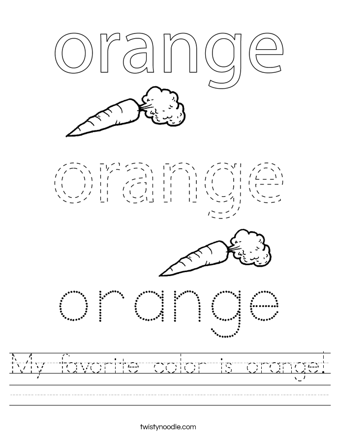 My favorite color is orange! Worksheet