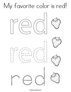 My favorite color is red Coloring Page