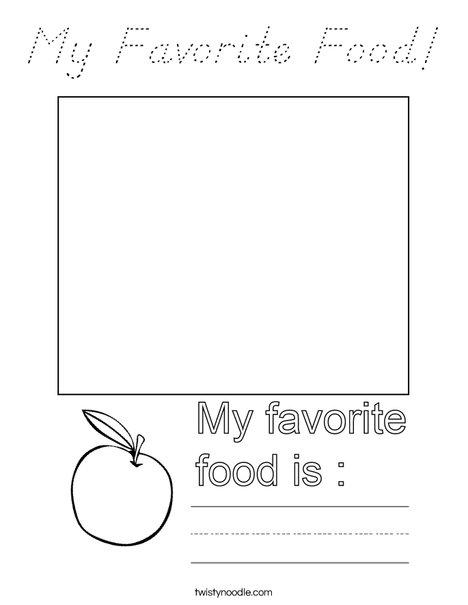 My Favorite Food! Coloring Page
