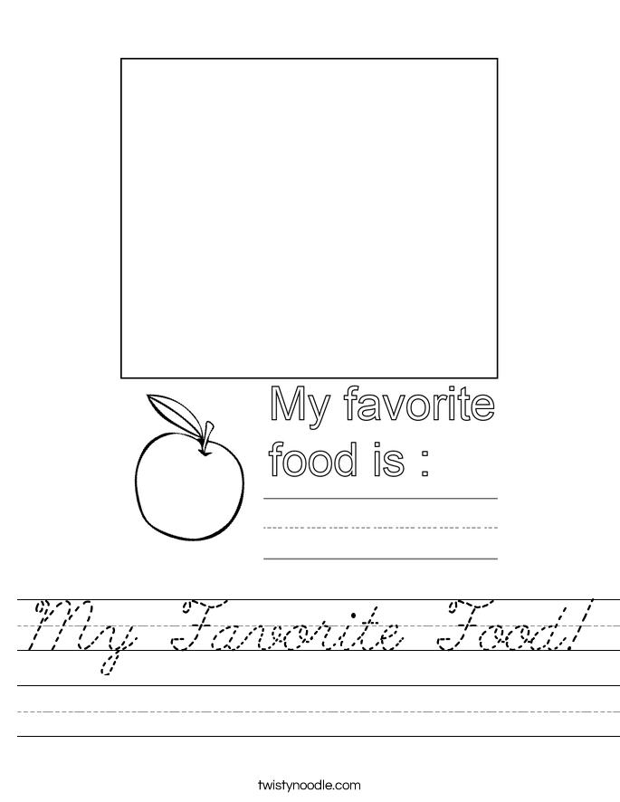My Favorite Food! Worksheet
