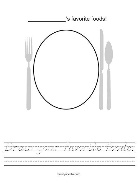 My Favorite Foods! Worksheet