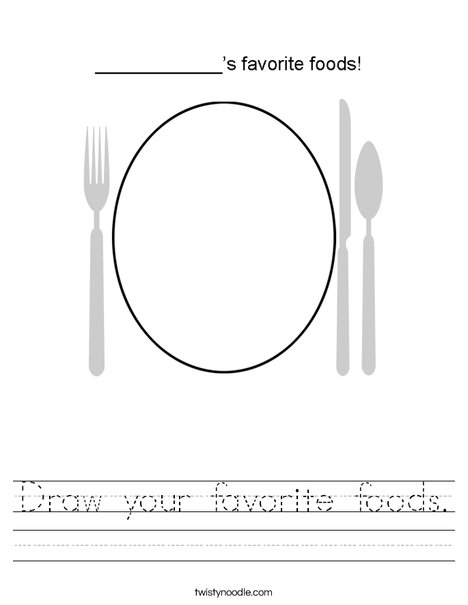 My Favorite Foods! Worksheet