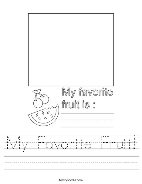 My Favorite Fruit! Worksheet