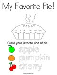 My Favorite Pie! Coloring Page