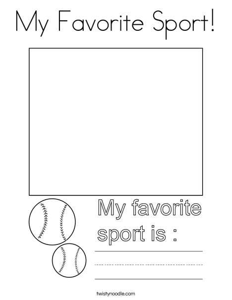 My Favorite Sport! Coloring Page