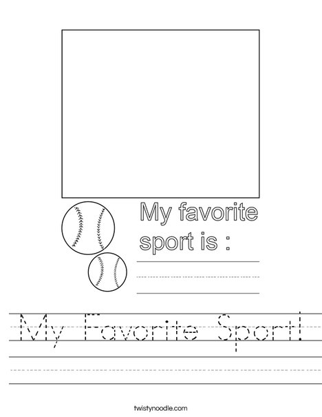 My Favorite Sport! Worksheet