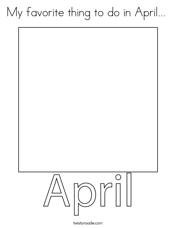 My favorite thing to do in April...  Coloring Page