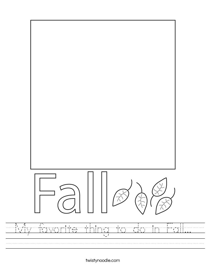 My favorite thing to do in Fall... Worksheet