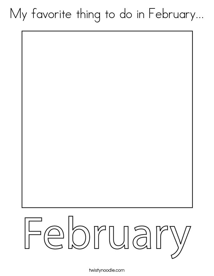 My favorite thing to do in February... Coloring Page