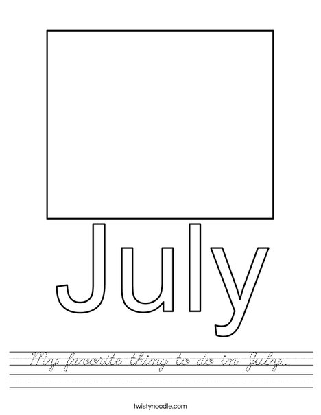 My favorite thing to do in July... Worksheet