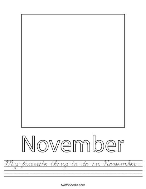 My favorite thing to do in November... Worksheet