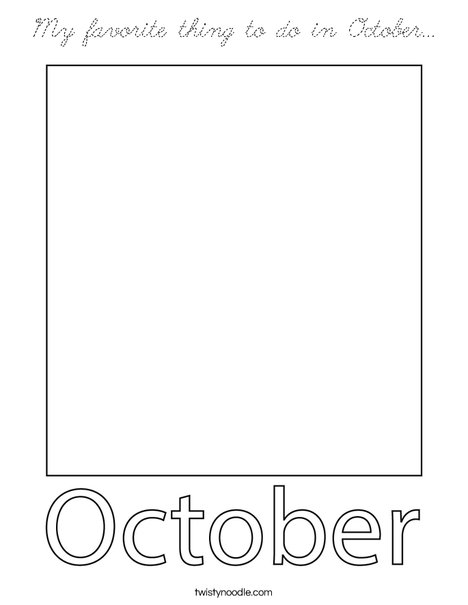 My favorite thing to do in October... Coloring Page