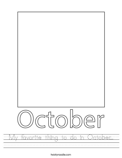 My favorite thing to do in October... Worksheet