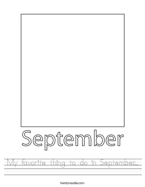 My favorite thing to do in September... Worksheet