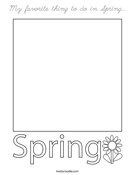 My favorite thing to do in Spring... Coloring Page
