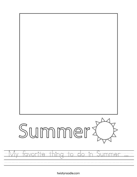 My favorite thing to do in Summer. Worksheet