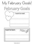 My February Goals Coloring Page