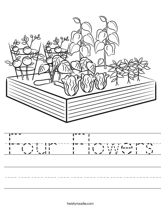 Four Flowers Worksheet