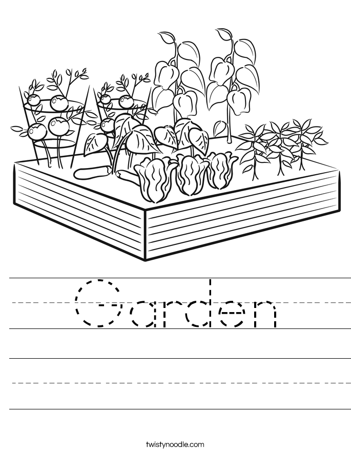 Garden Worksheet