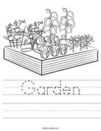 Garden Handwriting Sheet