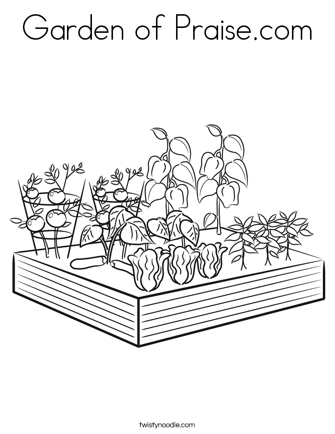 Garden of Praise.com Coloring Page
