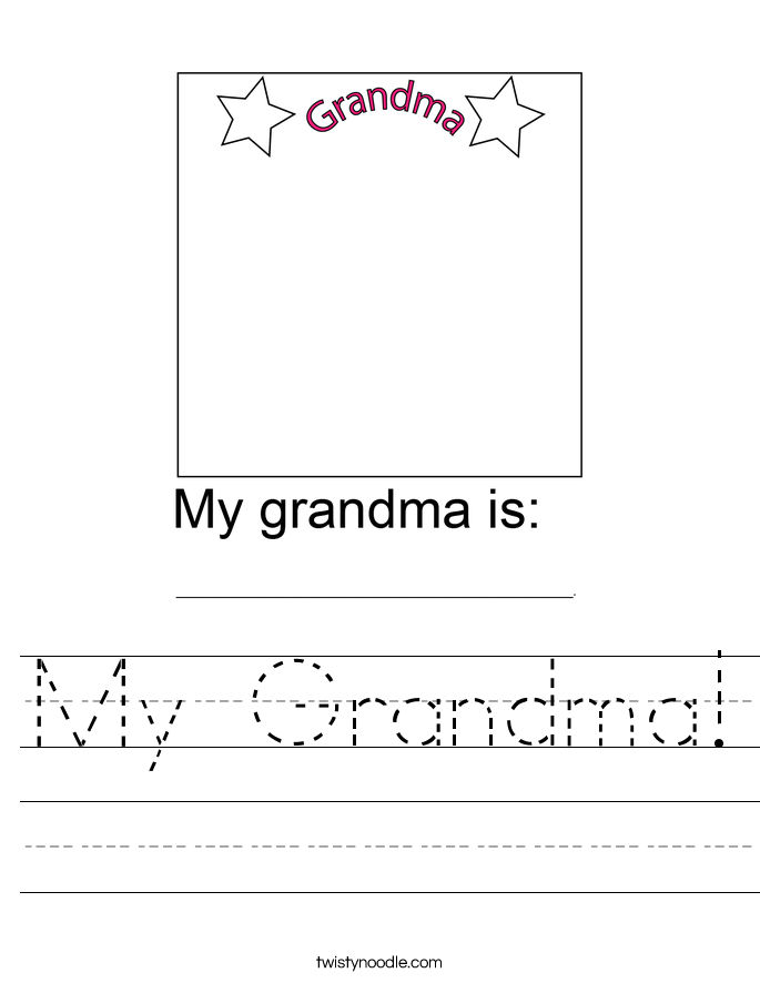 My Grandma! Worksheet
