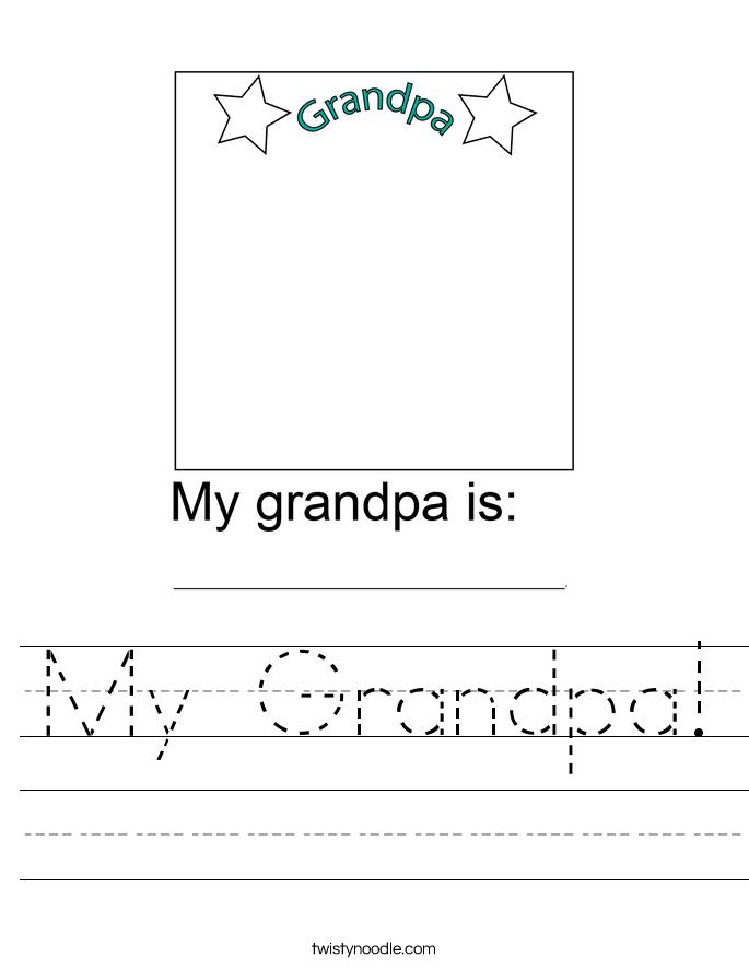 My Grandpa! Worksheet