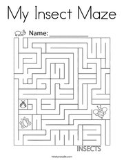 My Insect Maze Coloring Page