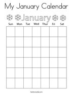 My January Calendar Coloring Page
