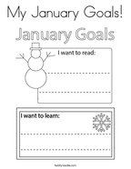My January Goals Coloring Page