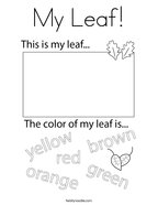 My Leaf Coloring Page