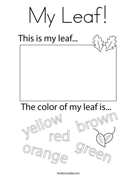 My Leaf! Coloring Page