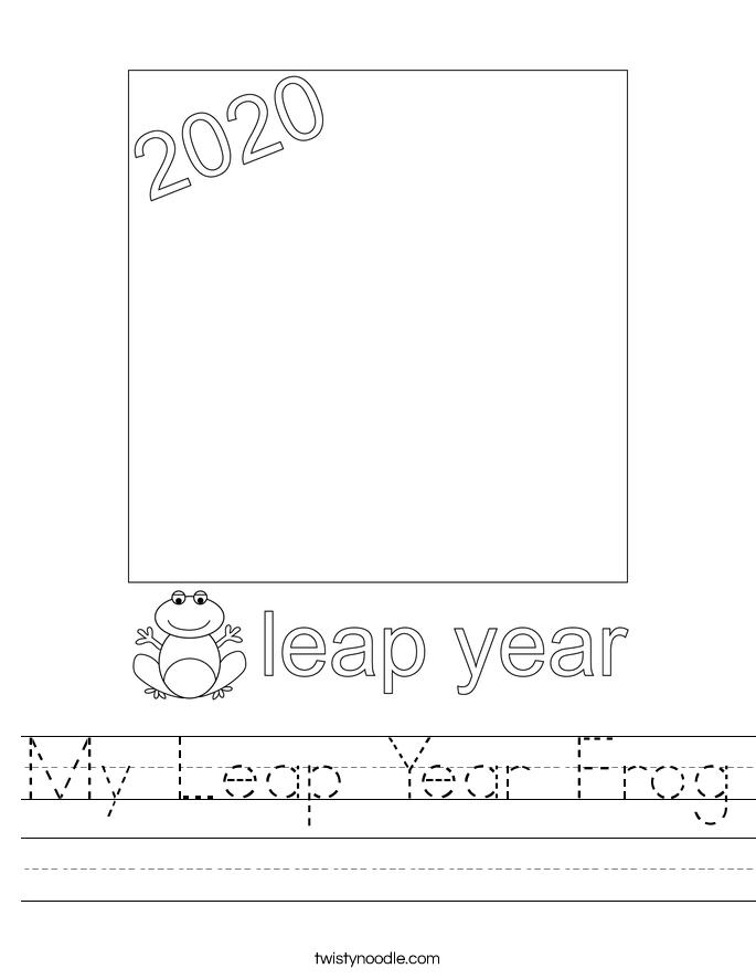 My Leap Year Frog Worksheet