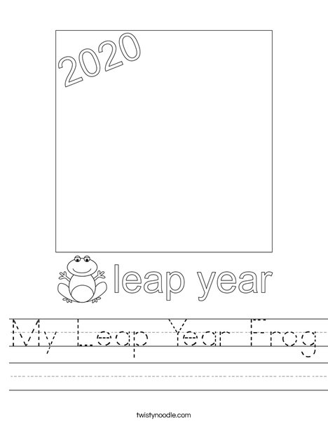 My Leap Year Frog Worksheet