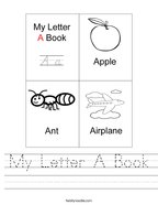 My Letter A Book Handwriting Sheet