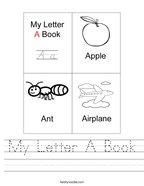 My Letter A Book Handwriting Sheet