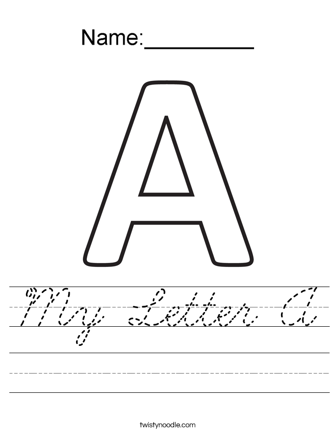 How to write in cursive with sample alphabet)