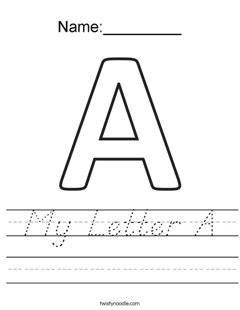My Letter A Worksheet