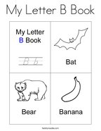 My Letter B Book Coloring Page