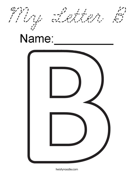 My Letter B Coloring Page